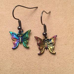 🔴 Rainbow Butterfly Earrings